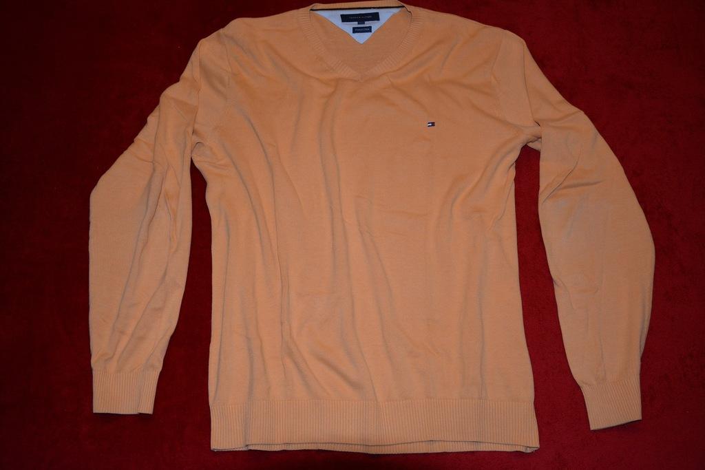TOMMY HILFIGER cienki sweterek oranż XXL od 1zł