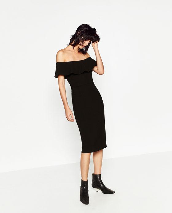 sukienka hiszpanka zara czarna