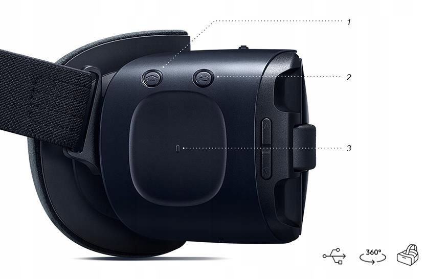 OKULARY SAMSUNG GEAR VR Z KONTROLEREM GALAXY S6 S7