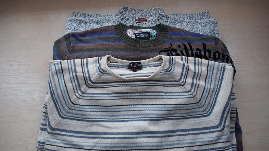 3 swetry XXL  Billabong, Cottofield, GW  -stan bdb