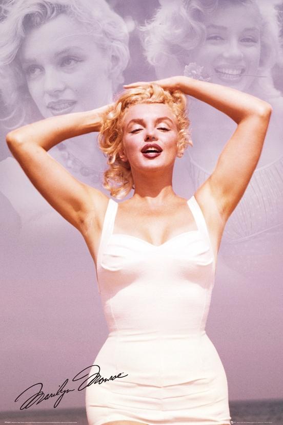 Marilyn Monroe Biała Sukienka plakat 61x91,5 cm