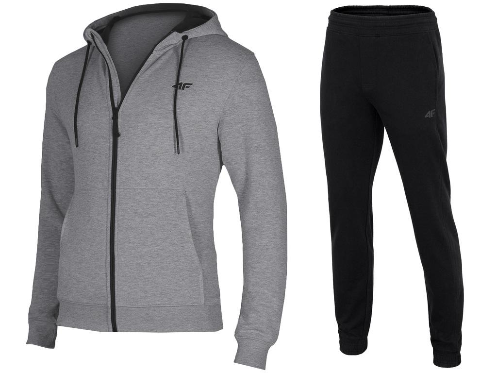4F Dresy Męskie Komplet Bluza Spodnie L18 XL