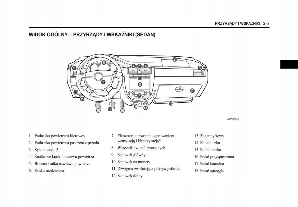 Chevrolet Lacetti Sedan Hatchback Kombi Instrukcja 7473969618