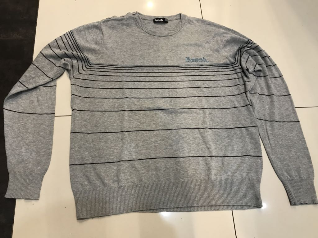 Sweter Bench męski szary L/XL