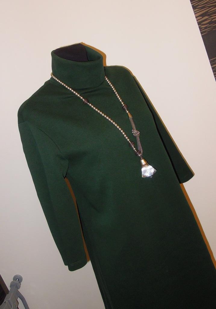 38 40 Zara butelkowa zieleń suknia sukienka