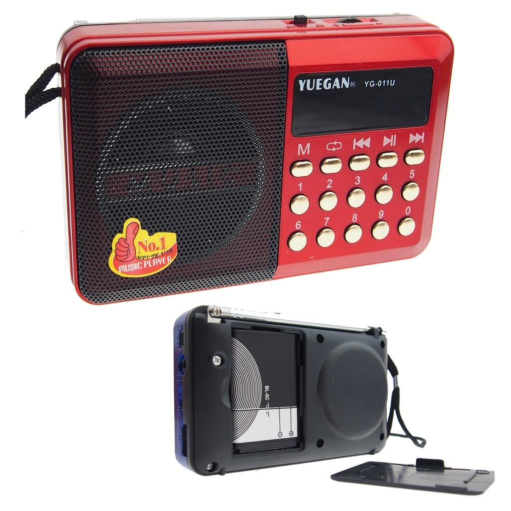 RADIO ODTWARZACZ MP3 PENDRIVE BATERIE GSM