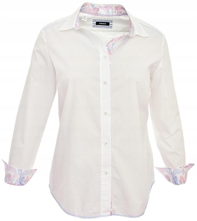 eP7266 klasyczna koszula, kolorowe mankiety 44 7621054402  ls2i6