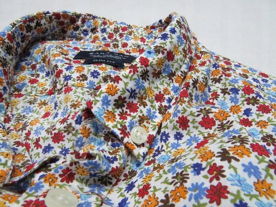 zara koszula w kwiatki męska