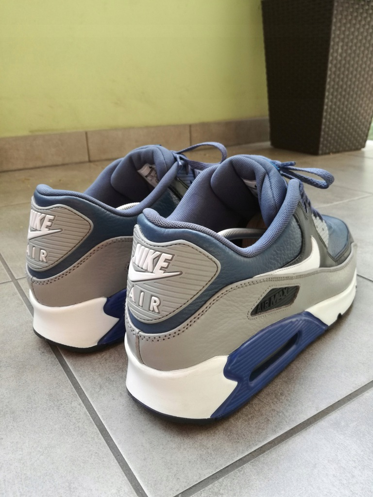Buty Nike Air Max 90 Leather Gym Blue Rozmiar 49,5