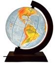 Globus 320 2w1 Podświetlany DREWNO Strefy Czasowe