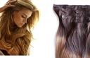 CLIP IN ON Naturalne Włosy OMBRE doczepiane treska