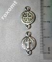 Łącznik różańca medalik krzyż Św Benedykta 2 oczka