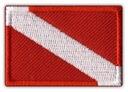 Naszywka NUREK - flaga nurkowa, wytrzymały HAFT