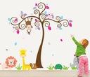 Naklejki scienne na ścianę dla dzieci SOWA SAFARI
