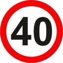 Znak Drogowy B 400mm ograniczenie b-33 np 40 km/h