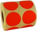 czerwone nalepki etykiety naklejki stickery fi32mm
