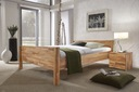 Łóżko dębowe LAST 180x200, lite naturalne drewno