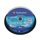 Verbatim CD-R Crystal  Azo Cake 10 szt. Najlepsze