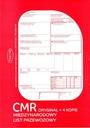 CMR- MIĘDZYNARODOWY LIST PRZEWOZOWY-LOGO + GRATIS