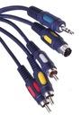 Kabel PC - TV SVHS + jack 3,5 / 3x RCA 2,5m(0429