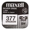 Bateria srebrowa Maxell 377 SR626SW 626 - 5 sztuk