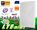 Antena MIMO LTE 2x 14dBi MODEM HUAWEI E3372 10m FV Zysk anteny 14 dBi