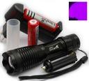 Latarka UV ultrafiolet UltraFire ZOOM +2 aku+akces