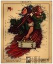 IRLANDIA śmieszna mapa karykatura Harvey 1868 r.