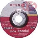 DRONCO Tarcze do zdzierania INOX, 125x6x22