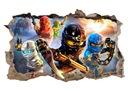 Naklejka plakat na ścianę LEGO NINJAGO ! 120x74 cm