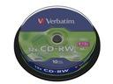 PŁYTY CD-RW VERBATIM 700MB 10szt ODPORNE NA RYSY