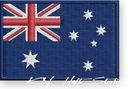 NASZYWKA termo naszywki - FLAGA AUSTRALIA - haft