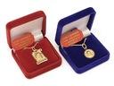 ZŁOTY 585 WISIOREK MEDALIK ŁAŃCUSZEK KOMUNIA GRAWR Typ medaliki