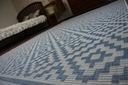 DYWAN SIZAL 120x170 ROMBY blue melanż #B342 Wzór geometryczny