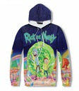 BLUZA SWETER RICK SANCHEZ AND MORTY 3D WZORY L