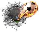 NAKLEJKI NA ŚCIANĘ 3D dla dzieci Piłka 90cm #501
