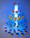 Stojak patera na ciasto tort podświetlana 5st LED Waga (z opakowaniem) 6 kg