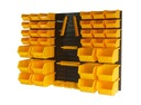 Zestaw pojemników Ecobox Żółty Tablica Regał 48el