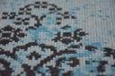 DYWAN VINTAGE 80x150 ROZETA niebieski czarny #B771 Grubość 6 mm