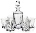 Kryształowy zestaw do whisky Bohemia Quadro 6+1