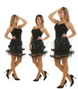 M947 tiulowa SPÓDNICA mini na imprezę, haft Płeć Produkt damski