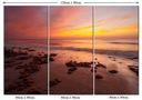 Obraz Widok Morze Ocean Fale Plaża Zachód Słońca