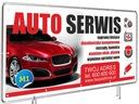 GOTOWE PROJEKTY Baner reklamowy 2mx1m AUTO SERWIS