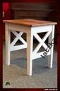 Taboret drewniany dębowy, taborecik prowansalski Montaż meble złożone