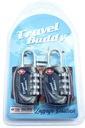 2 szt. KŁÓDKI Travel Buddy system TSA zamek 4-PIN Kod produktu 2XTSAPL(BLACK)