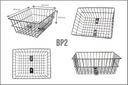 KOSZYK NA BAGAŻNIK ZAKUPY ROWER TYLNY drut siatka Pojemność 10 l