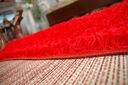 DYWAN SHAGGY 70x100 5cm czerwony miękki jednolity Grubość 50 mm