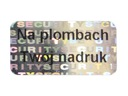 PLOMBY GWARANCYJNE STICKERY 20x10 HOLOGRAM 250SZT
