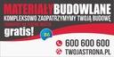 Baner reklamowy - Firma budowlana 2,5x1,25 - SZYLD Waga produktu z opakowaniem jednostkowym 1 kg