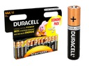12x ORYGINALNE BATERIE ALKALICZNE DURACELL R3/AAA